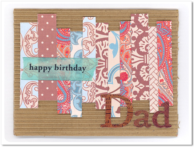 Stacked Stripes Card