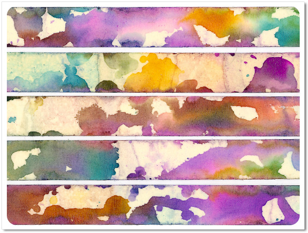 Faux Watercolor Washi Tape