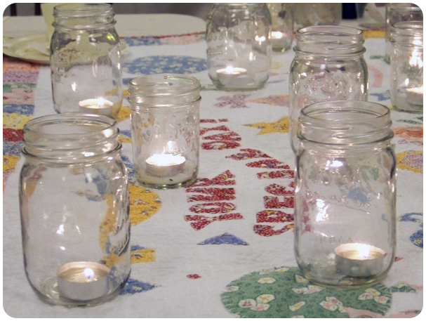 Mason Jar Tea Lights