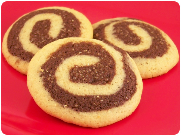 Chocolate & Vanilla Bean Pinwheel Cookies