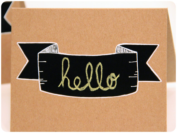 Chalkboard Banner Card Tutorial