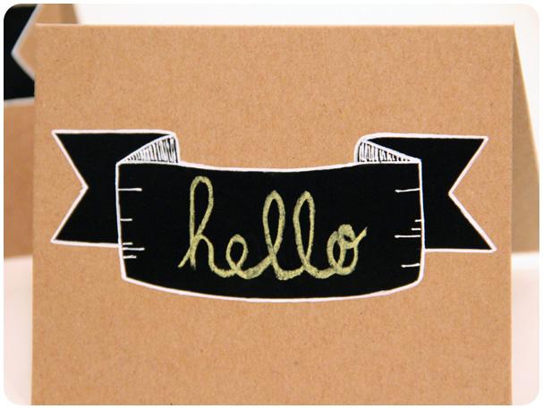 Chalkboard Banner Card Tutorial