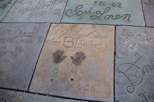 Marilyn Monroe at Grauman's Chinese Theater