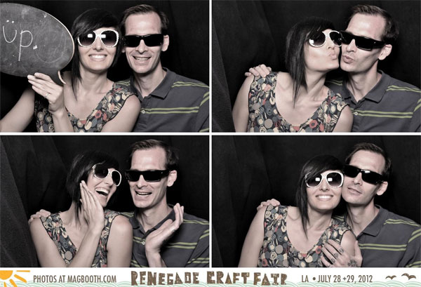 Sarah and L in Renegade Craft Fair Photo Booth