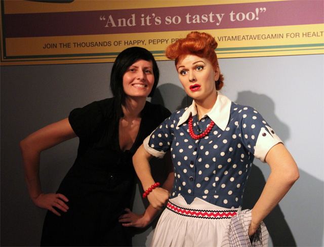 Sarah and Lucy at Hollywood Wax Museum