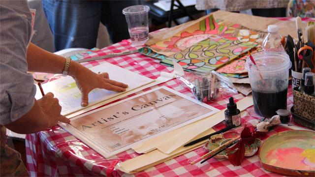 Pam Garrison Art Journaling Class