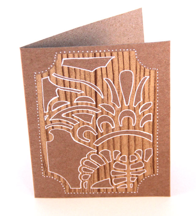 DIY Faux Woodcut Card
