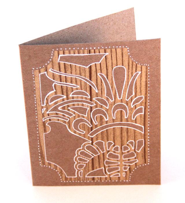 DIY Faux Woodcut Card