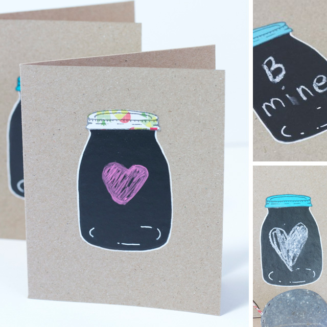 DIY Chalkboard Mason Jar Cards
