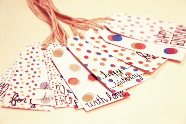 Free Confetti Gift Tags